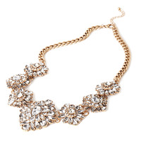 Ornate Rhinestone Statement Necklace