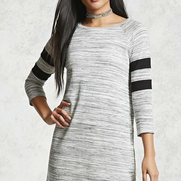 Marled Knit Varsity Dress