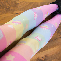 Rainbows & Cupcakes Tights