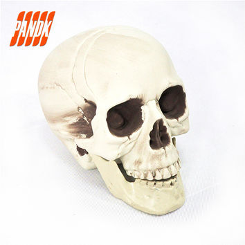 Halloween Skull Bones Life Size Realistic Skull Haunted House Escape Horror Props Decorations Holiday Props Free Shipping