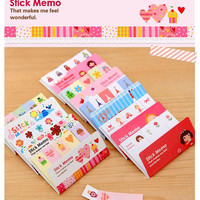 pinky girl sticky memo ballet paper note kawaii girl flower sticky note pairs tower color tape nesting doll memo paper princess party gift