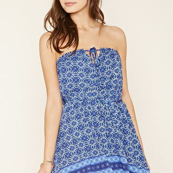 Strapless Tile Print Dress | Forever 21 - 2000178066