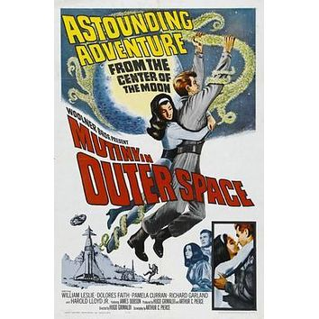 Mutiny In Outer Space Movie poster Metal Sign Wall Art 8in x 12in