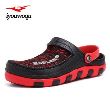 Hot Sale New 2017 Summer Casual Mens Beach Clogs Sandal Comfortable Jell Shoes Leisure Flip Flop Shoe Man