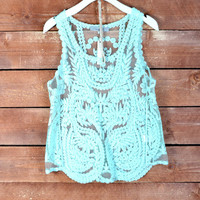 Romatic Lace Tank - Mint
