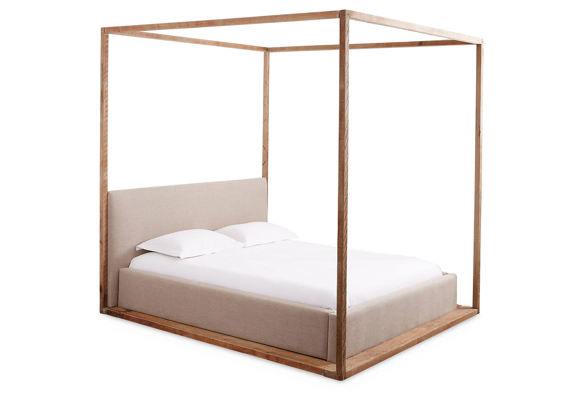 Bryan Linen Canopy Bed Natural Canopy From One Kings