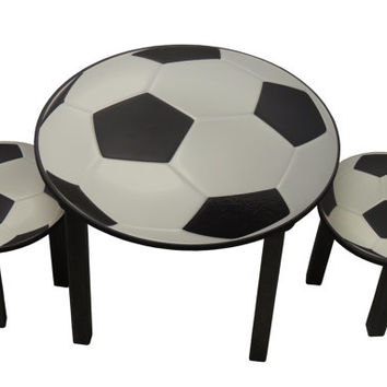 Childrens soccer theme activity table and chair set