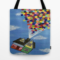 Up Tote Bag by Sierra Christy Art