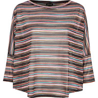 River Island Womens Yellow knitted stripe top