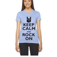 Keep Calm and Rock On - Women's Tee