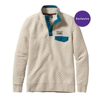 Patagonia Women's Cotton Quilt Snap-T® Pullover | Feather Grey