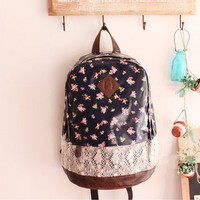 cute lace waterproof flower shoulders bag/backpack