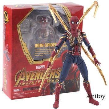 SHF S.H.Figuarts Marvel Avengers Infinity War Iron Spider Spiderman Hot Toys PVC Action Figure Collectible Model Toy