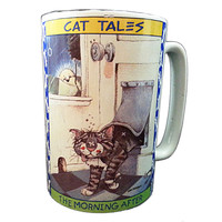 The Morning After Coffee Mug Cat Tales Cup Gary Patterson 10oz Westwood  k150