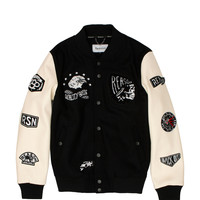 Quality Goods Varsity Jacket - Black/White