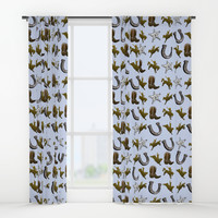 Old West Cowboy Rodeo Pattern Window Curtains by gx9designs