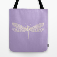 Lavender Dragon Tote Bag by Catherine Holcombe