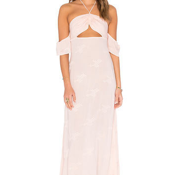 FLYNN SKYE Err Night Maxi Dress in Blush Cluster