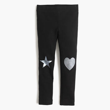 crewcuts Girls Cozy Everyday Leggings With Metallic Patches