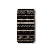 Samsung Galaxy S4 Case, Black Aztec Geometric on Wood Pattern 3d-sublimated, Mobile Accessories.