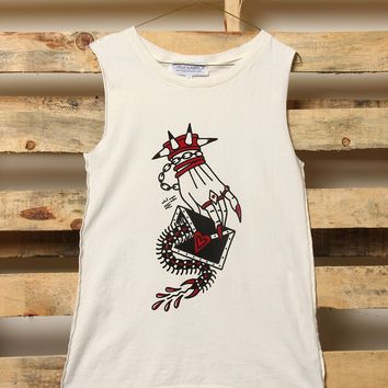 Gypsy Warrior x Hillary Fisher-White Muscle Tank