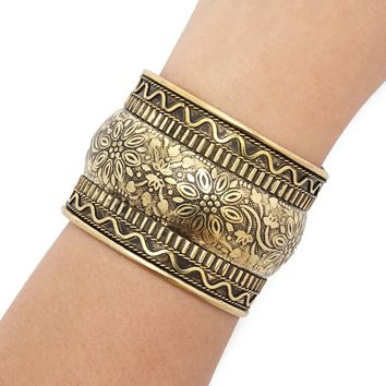 Etched Floral Cuff