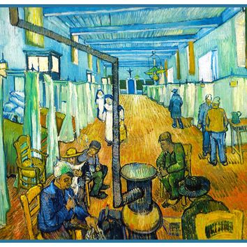 Interior of Hospital Arles France by Vincent Van Gogh Counted Cross Stitch or Counted Needlepoint Pattern