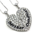 "Eloi Jewelry Mother and Daughter Necklace Best Friend Pendant Necklace Gift (Size: 1.5"" * 1.5"", Color: White)"