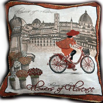 Tache Girls Day Out  Woven Throw Pillow Cushion Covers (14003)