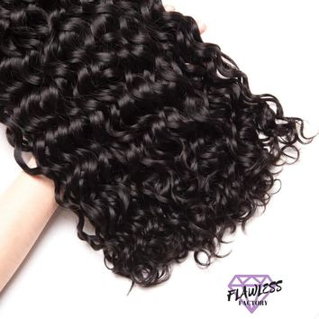 Brazilian Water Wave Remy Hair Extensions 1PC