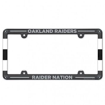 Oakland Raiders Full Color License Plate Frame