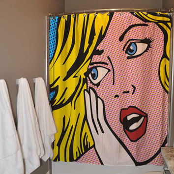 Sexy Retro Vintage Pin Up Girl Comic Shower Curtain