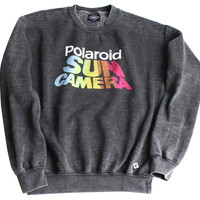Altru Apparel Polaroid Sun Camera Vintage Crew Sweatshirt (Only M & L)