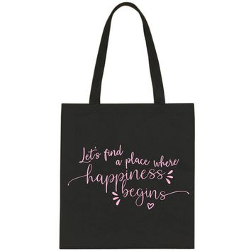 "Jonas Brothers ""Let's find a place where Happiness Begins"" Tote Bag"