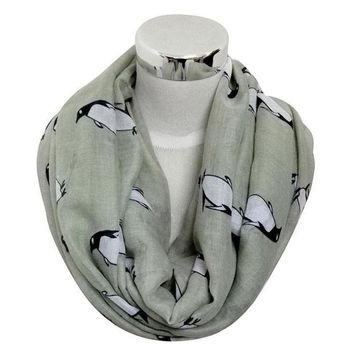 Re Free Shipping 2016 New Women Cute Fashion Winter Moose Deer Animal Print Infinity Scarfs Snood For Ladies Christmas Gifts