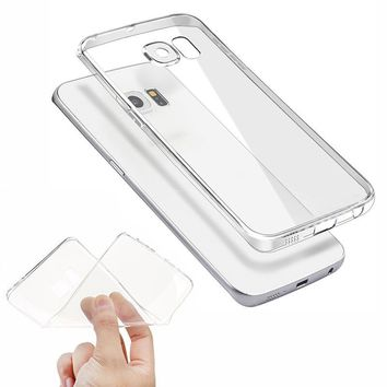 Transparent Clear Case On The for Samsung Galaxy A3 A5 A7 J1 J2 J3 J5 J7 Prime 2015 2016 2017 Soft TPU Silicone Ultra Thin Cases