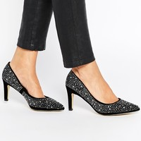 Truffle Collection Tegan Rhinestone Point Pumps