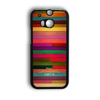 Colorful Wood Pattern HTC One M9 Case