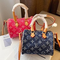 LV jacquard denim women's handbag shoulder bag crossbody bag