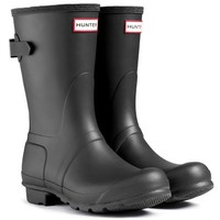 Womens Hunter Original Back Adjustable Short Waterproof Galoshes Boots