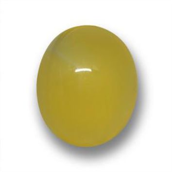 3.27 ct  Oval Cabochon Yellow Agate 10.9 x 9 mm