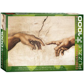 Michelangelo - Creation of Adam - 1000 Piece Jigsaw Puzzle