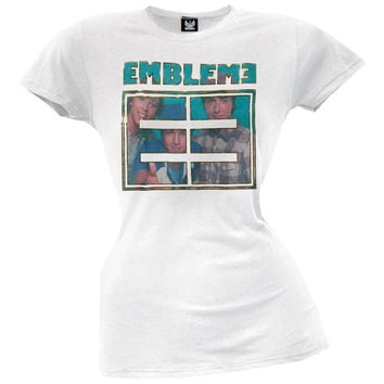 Emblem3 - Photo In Logo Juniors T-Shirt