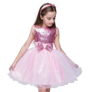 New Flower Girl Dresses Rose Petal Dress Wedding Easter Bridesmaid For Baby Children Toddler Teen Girls High quality Kids dress