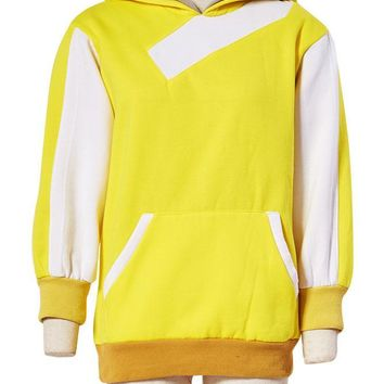 Go Trainer Yellow Hoodie Cosplay Costume Hooded Jacket  Coat For Men Women Size S-XXLKawaii Pokemon go  AT_89_9