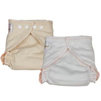OsoCozy Fitted Diaper-Small Unbleached
