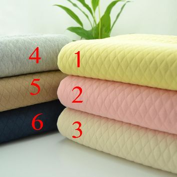50*150cm width thick warm baby cotton knitted fabric by meter DIY sewing upholstery baby cotton bedding quilting fabric