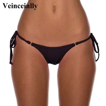 2018 New Female Swimwear women sexy Brazilian Tanga brasil brasileino mini micro Bikini Bottom Thong underwear panties brief Y08