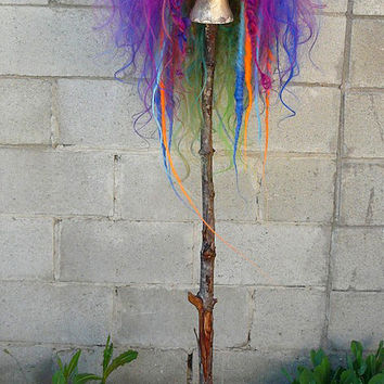 CUSTOM Berry Cocktail Rainbow Puff Dread WIG Hair Art cyber goth punk hippie boho gypsy festival circus rave raver cosplay anime japan playa