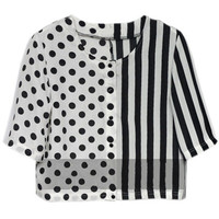 ROMWE | Strips And Spots T-shirt, The Latest Street Fashion